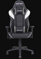 Anda Seat Assassin Black/White V2 - Full PU Leather 4D Armrest Gaming Chair