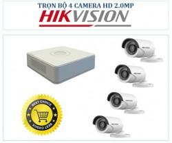 TRỌN BỘ 4 MẮT CAMERA HIKVISON HD  2.0MB
