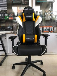 Anda Seat Assassin Black/Yellow V2 - Full PU Leather 4D Armrest Gaming Chair