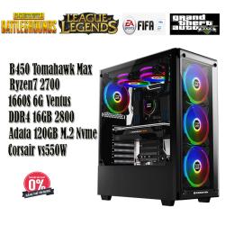 PC Gaming VQ06 Ryzen7 2700/16GB/120GB M.2 Nvme/1660 Ventus 6GB
